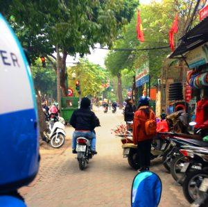 Uber Moto Ride in Hanoi Vietnam | catching carla